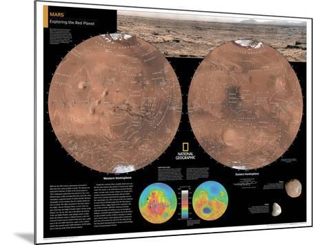 2014 Mars - National Geographic Atlas of the World, 10th Edition-National Geographic Maps-Mounted Poster