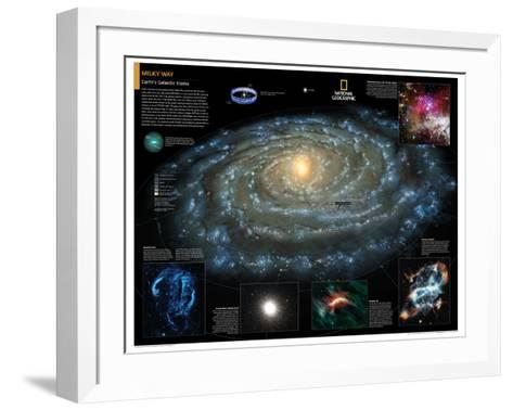 2014 Milky Way - National Geographic Atlas of the World, 10th Edition-National Geographic Maps-Framed Art Print