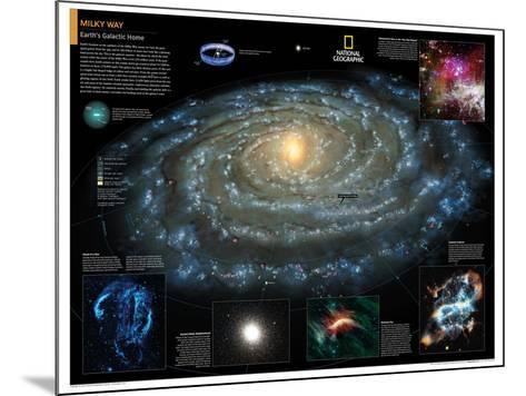 2014 Milky Way - National Geographic Atlas of the World, 10th Edition-National Geographic Maps-Mounted Poster