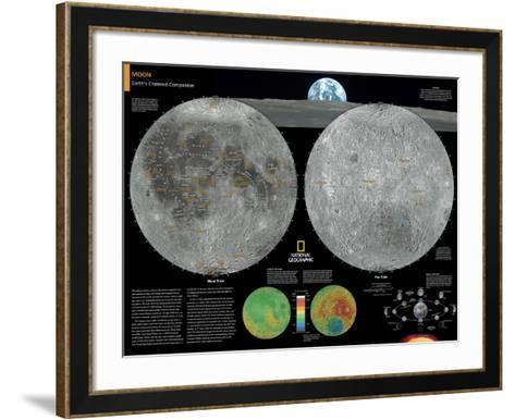 2014 Moon - National Geographic Atlas of the World, 10th Edition-National Geographic Maps-Framed Art Print