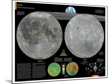 2014 Moon - National Geographic Atlas of the World, 10th Edition-National Geographic Maps-Mounted Poster