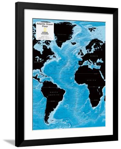 2014 Atlantic Ocean Floor - National Geographic Atlas of the World, 10th Edition-National Geographic Maps-Framed Art Print