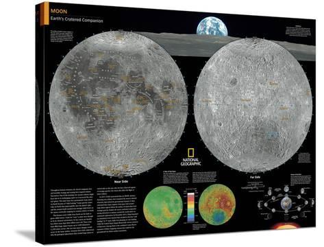 2014 Moon - National Geographic Atlas of the World, 10th Edition-National Geographic Maps-Stretched Canvas Print
