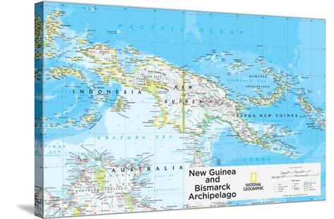2014 New Guinea - National Geographic Atlas of the World, 10th Edition-National Geographic Maps-Stretched Canvas Print