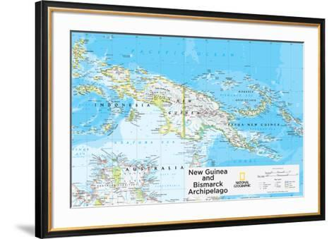 2014 New Guinea - National Geographic Atlas of the World, 10th Edition-National Geographic Maps-Framed Art Print