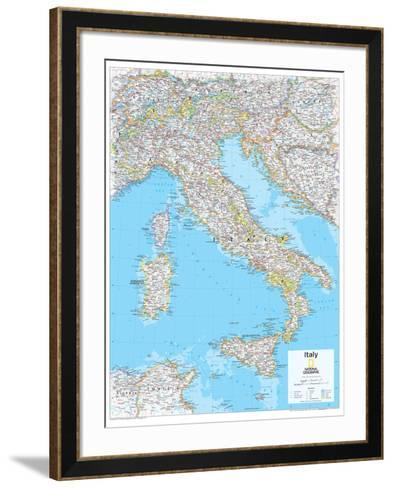 2014 Italy - National Geographic Atlas of the World, 10th Edition-National Geographic Maps-Framed Art Print