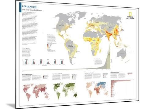 2014 Population - National Geographic Atlas of the World, 10th Edition-National Geographic Maps-Mounted Poster