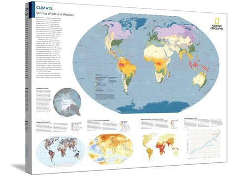 2014 Climate - National Geographic Atlas of the World, 10th Edition-National Geographic Maps-Stretched Canvas Print