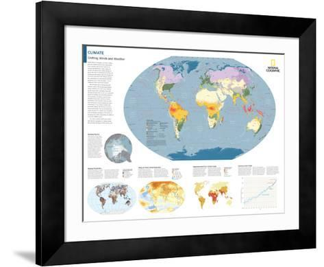 2014 Climate - National Geographic Atlas of the World, 10th Edition-National Geographic Maps-Framed Art Print