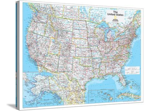 2014 United States Political - National Geographic Atlas of the World, 10th Edition-National Geographic Maps-Stretched Canvas Print