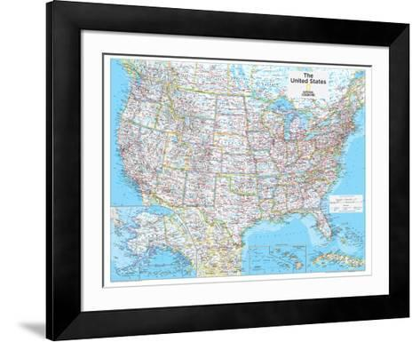 2014 United States Political - National Geographic Atlas of the World, 10th Edition-National Geographic Maps-Framed Art Print