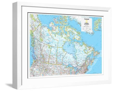 2014 Canada Political - National Geographic Atlas of the World, 10th Edition-National Geographic Maps-Framed Art Print