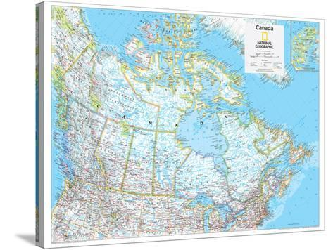 2014 Canada Political - National Geographic Atlas of the World, 10th Edition-National Geographic Maps-Stretched Canvas Print