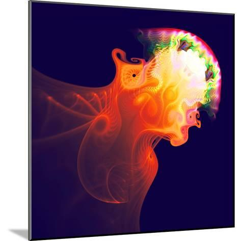 Abstract Jellyfish in the Ocean. Fractal Art Graphics-Artem Volkov-Mounted Photographic Print