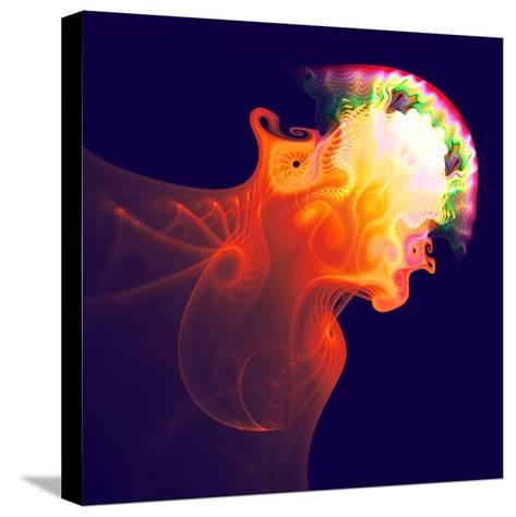Abstract Jellyfish in the Ocean. Fractal Art Graphics-Artem Volkov-Stretched Canvas Print