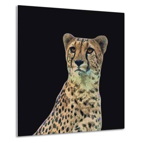 Portrait of Cheetah Sitting, Vector Illustration-Jan Fidler-Metal Print