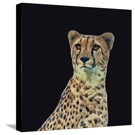 Portrait of Cheetah Sitting, Vector Illustration-Jan Fidler-Stretched Canvas Print