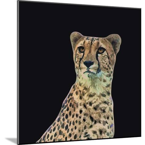 Portrait of Cheetah Sitting, Vector Illustration-Jan Fidler-Mounted Photographic Print