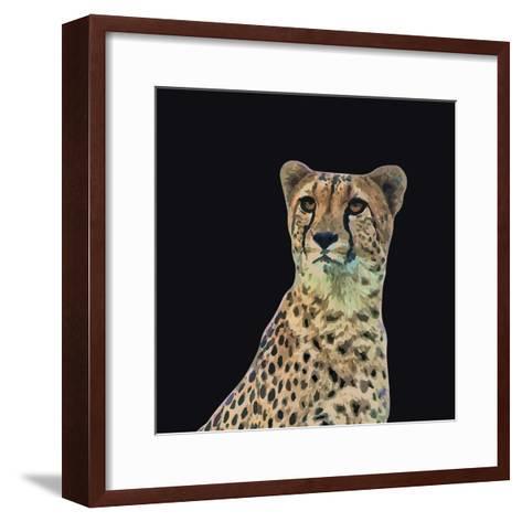 Portrait of Cheetah Sitting, Vector Illustration-Jan Fidler-Framed Art Print