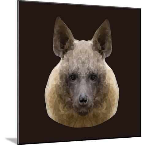 Canine Beast of Pray, Hyena, Low Poly Vector Portrait Illustration-Jan Fidler-Mounted Photographic Print