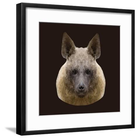 Canine Beast of Pray, Hyena, Low Poly Vector Portrait Illustration-Jan Fidler-Framed Art Print