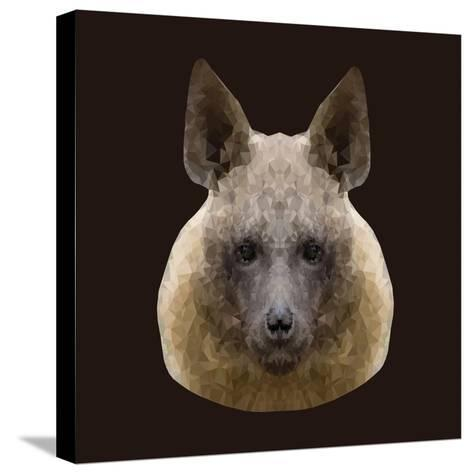 Canine Beast of Pray, Hyena, Low Poly Vector Portrait Illustration-Jan Fidler-Stretched Canvas Print