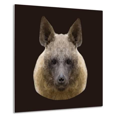 Canine Beast of Pray, Hyena, Low Poly Vector Portrait Illustration-Jan Fidler-Metal Print