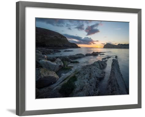 A View Along the Ledges at Lulworth Cove in Dorset-Chris Button-Framed Art Print