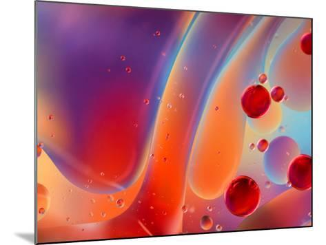 Beautiful Abstract Colorful Background, Oil on Water Surface- Abstract Oil Work-Mounted Photographic Print