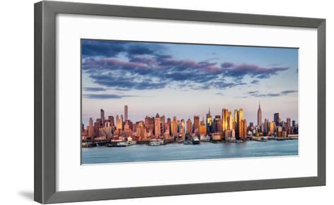Midtown Manhattan Skyscrapers Reflecting Light at Sunset-Francois Roux-Framed Art Print