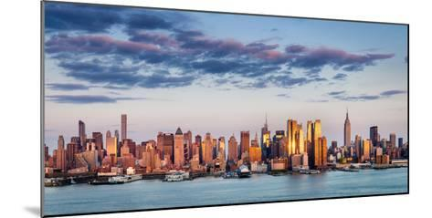 Midtown Manhattan Skyscrapers Reflecting Light at Sunset-Francois Roux-Mounted Photographic Print