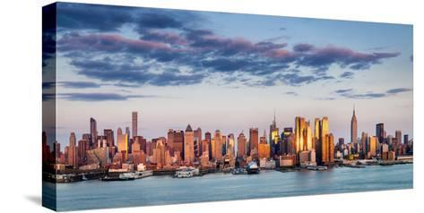 Midtown Manhattan Skyscrapers Reflecting Light at Sunset-Francois Roux-Stretched Canvas Print