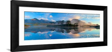 Misty Morning Reflection of the Twelve Bens in Derryclare Lough, Connemara, Co Galway, Ireland-Gareth McCormack-Framed Art Print