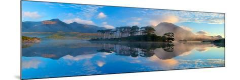 Misty Morning Reflection of the Twelve Bens in Derryclare Lough, Connemara, Co Galway, Ireland-Gareth McCormack-Mounted Photographic Print
