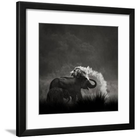 Mud Bath-Ganesh H Shankar-Framed Art Print