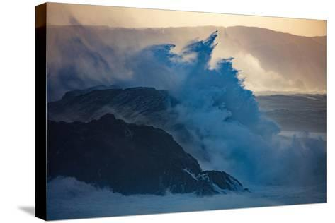 Storm Waves on the Coast of Achill Island, County Mayo, Ireland-Gareth McCormack-Stretched Canvas Print