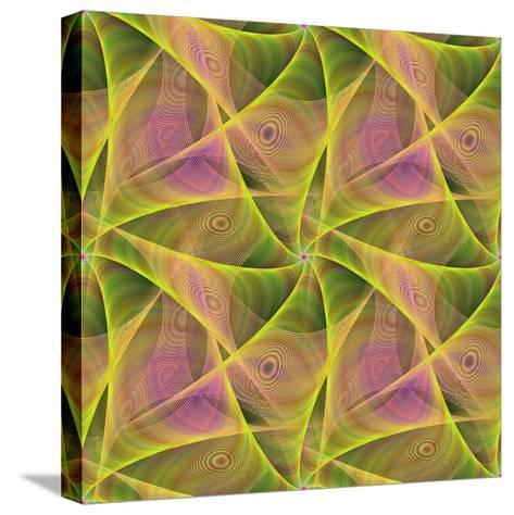 Seamless Abstract Veil Fractal Design-David Zydd-Stretched Canvas Print