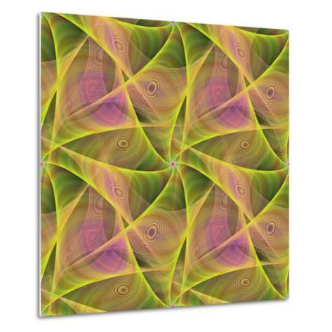 Seamless Abstract Veil Fractal Design-David Zydd-Metal Print