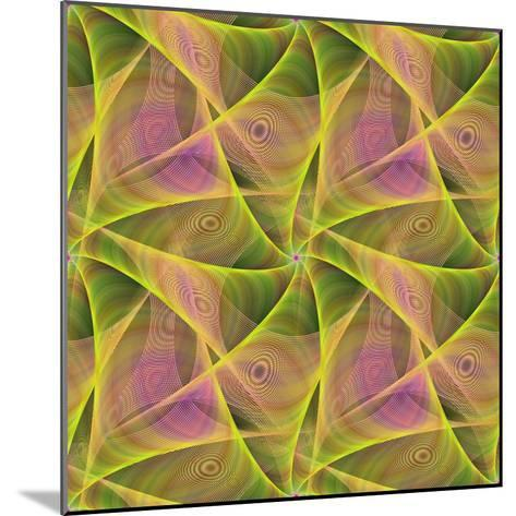 Seamless Abstract Veil Fractal Design-David Zydd-Mounted Photographic Print