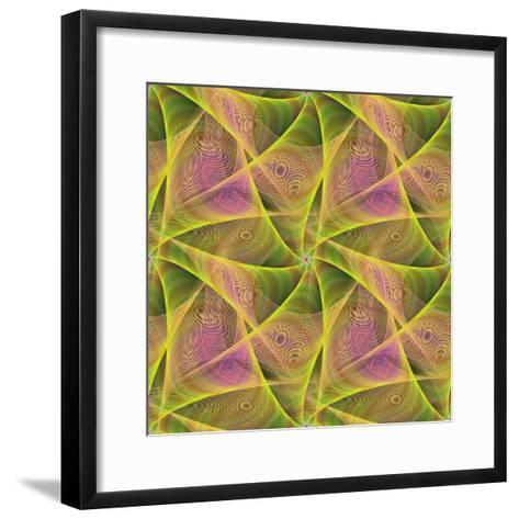 Seamless Abstract Veil Fractal Design-David Zydd-Framed Art Print