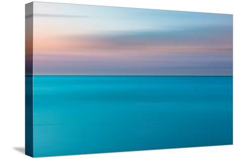 An Abstract Ocean Seascape with Blurred Panning Motion-Jacek Kadaj-Stretched Canvas Print