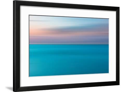 An Abstract Ocean Seascape with Blurred Panning Motion-Jacek Kadaj-Framed Art Print