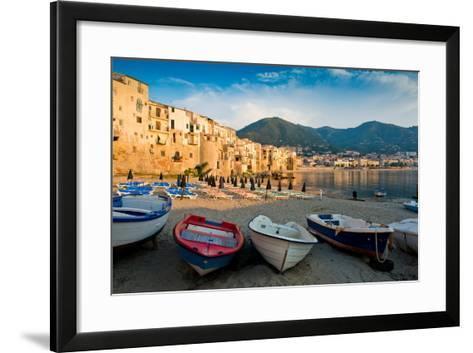View of the Old Town. Cefalu, Sicily-James Lange-Framed Art Print