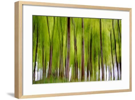 An Abstract Created by Intentional Camera Movement-John Lunt-Framed Art Print