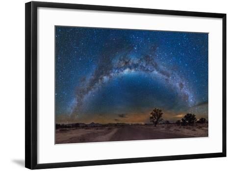 Milky Way Reflected over the Atacama Desert-Giulio Ercolani-Framed Art Print