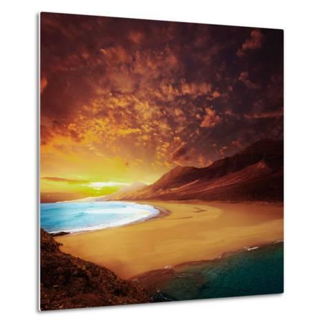 Cofete Fuerteventura Barlovento Beach at Canary Islands of Spain-Naturewolrd-Metal Print