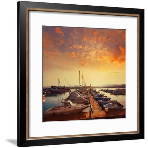 Fuerteventura Caleta Del Fuste Puerto Castillo at Canary Islands of Spain-Naturewolrd-Framed Art Print