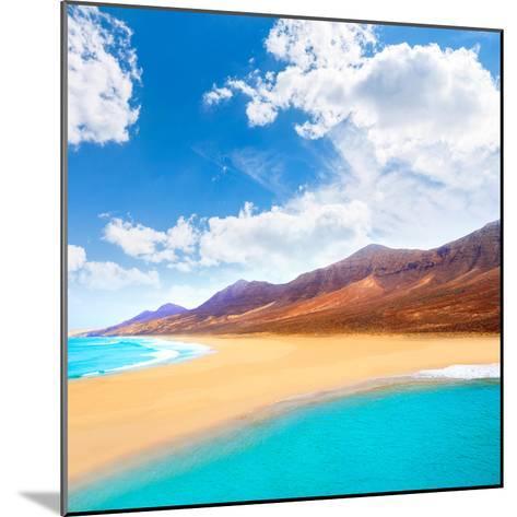 Cofete Fuerteventura Barlovento Beach at Canary Islands of Spain-Naturewolrd-Mounted Photographic Print
