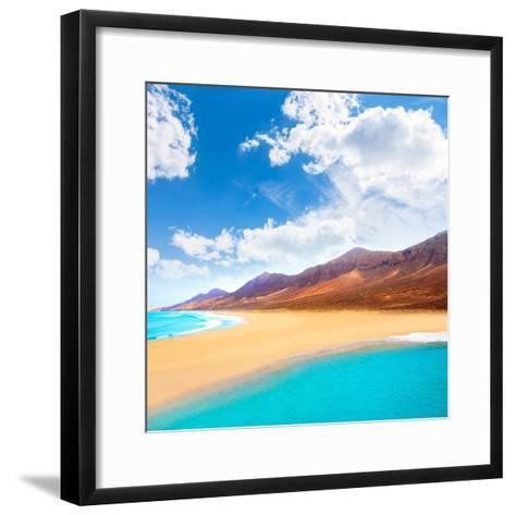 Cofete Fuerteventura Barlovento Beach at Canary Islands of Spain-Naturewolrd-Framed Art Print