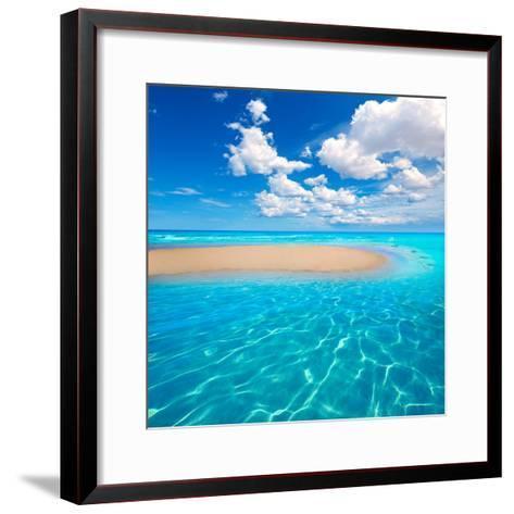 Fuerteventura Jandia Beach Sotavento at Canary Islands of Spain-Naturewolrd-Framed Art Print